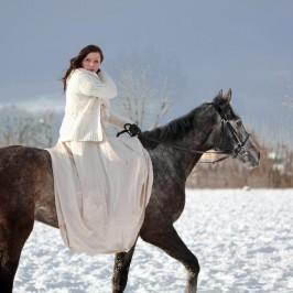Ania i Likier – sesja na koniu