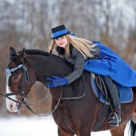 Paulina i Ares – sesja na koniu